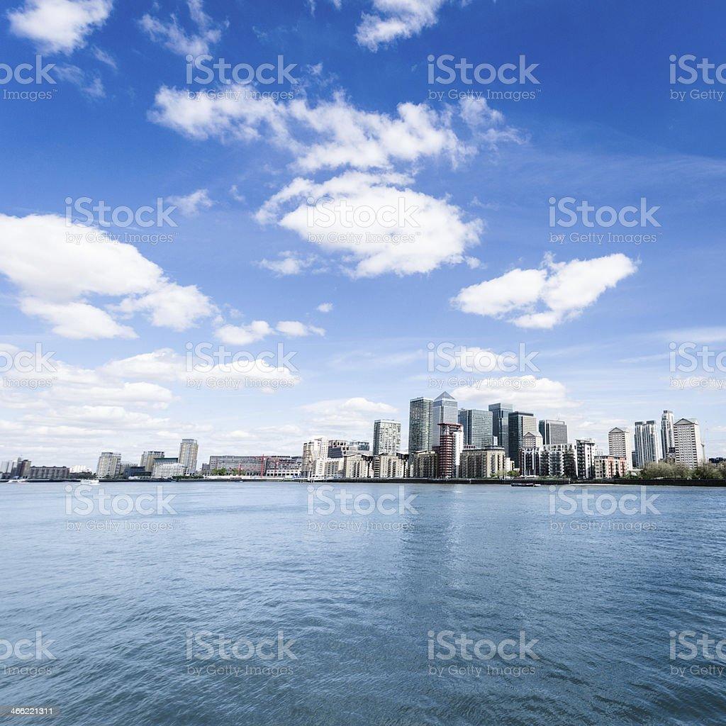 Canary wharf skyline stock photo
