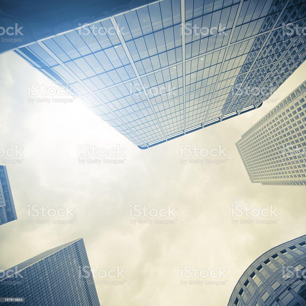 Canary Wharf skyscraper in London UK royalty-free stock photo