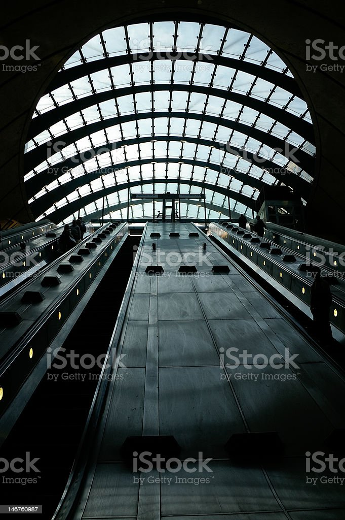 Canary Wharf Station stock photo