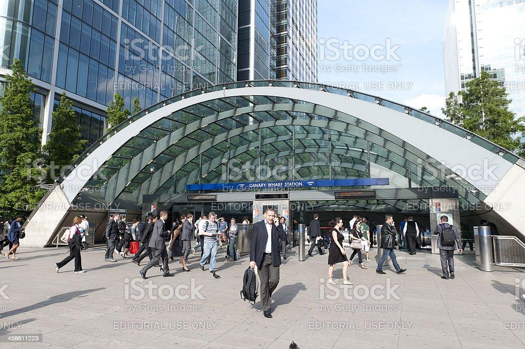 Canary Wharf Station royalty-free stock photo