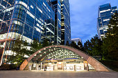 Canary Wharf Subway Station, London's Financial District, England