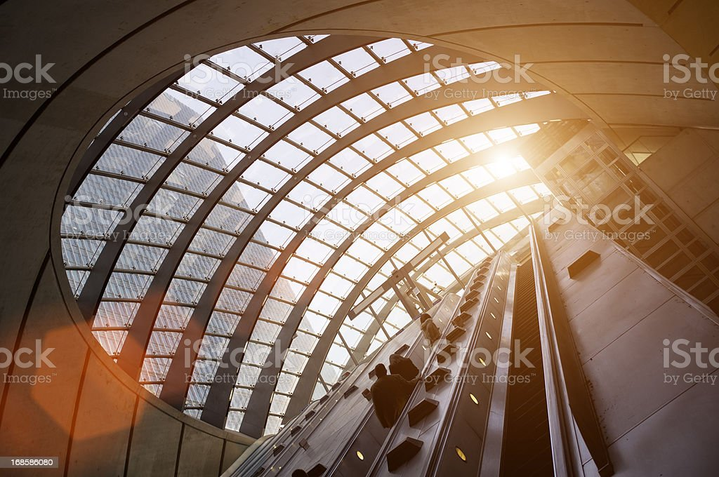 Canary Wharf Sunrise stock photo