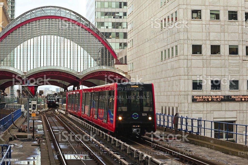 Canary Wharf Underground Station royalty-free stock photo