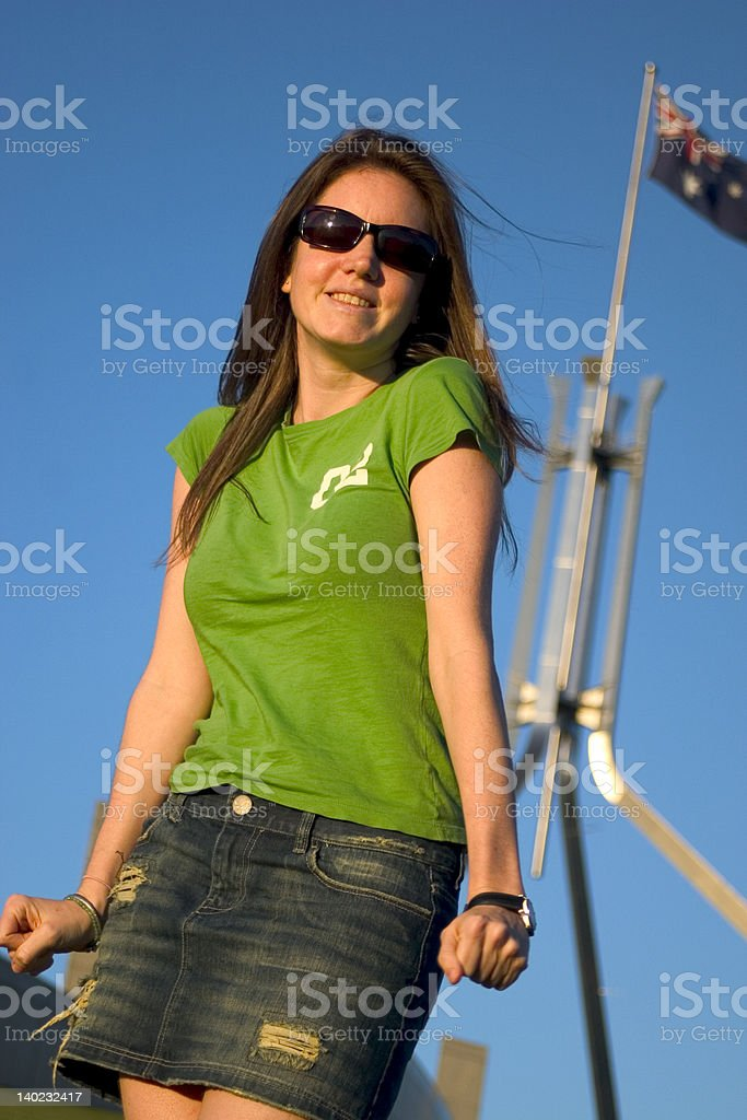 Canberra Girl royalty-free stock photo