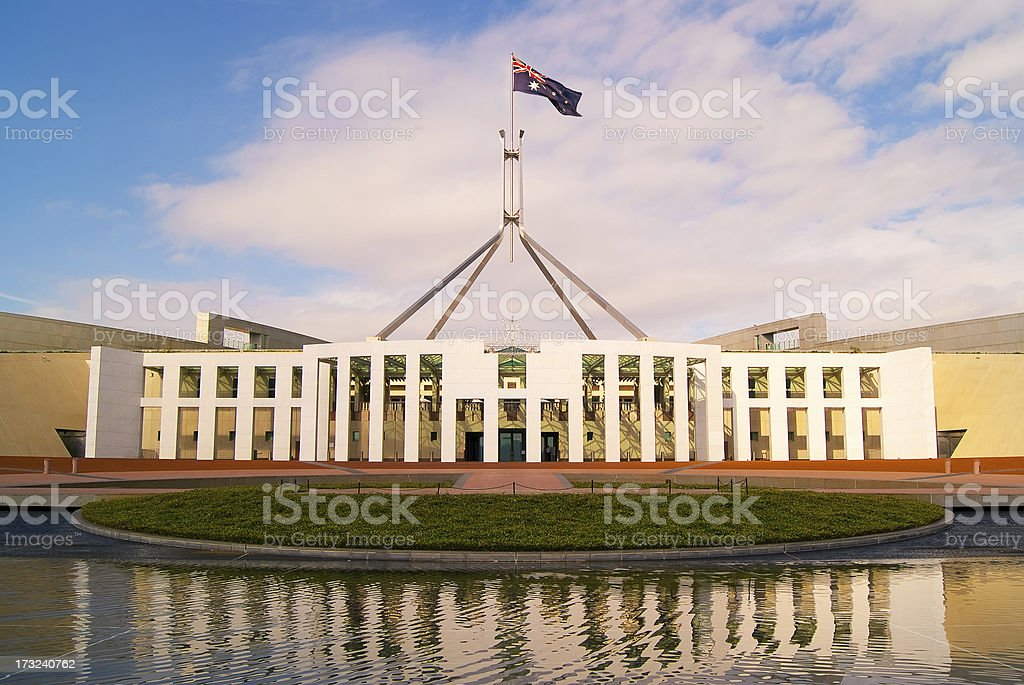 Canberra - Parliament House royalty-free stock photo
