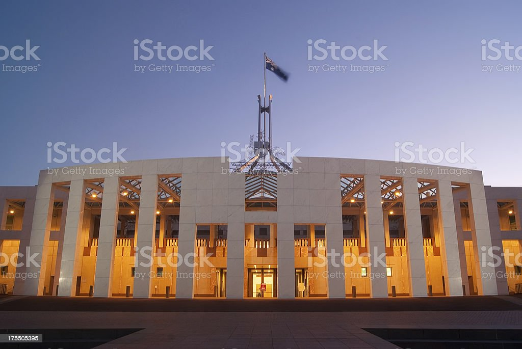 Canberra - Parliament House (Night) stock photo
