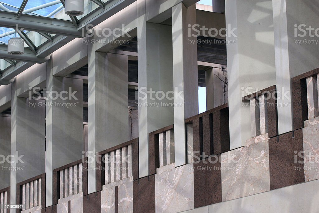 Canberra - Parliment House Wall royalty-free stock photo