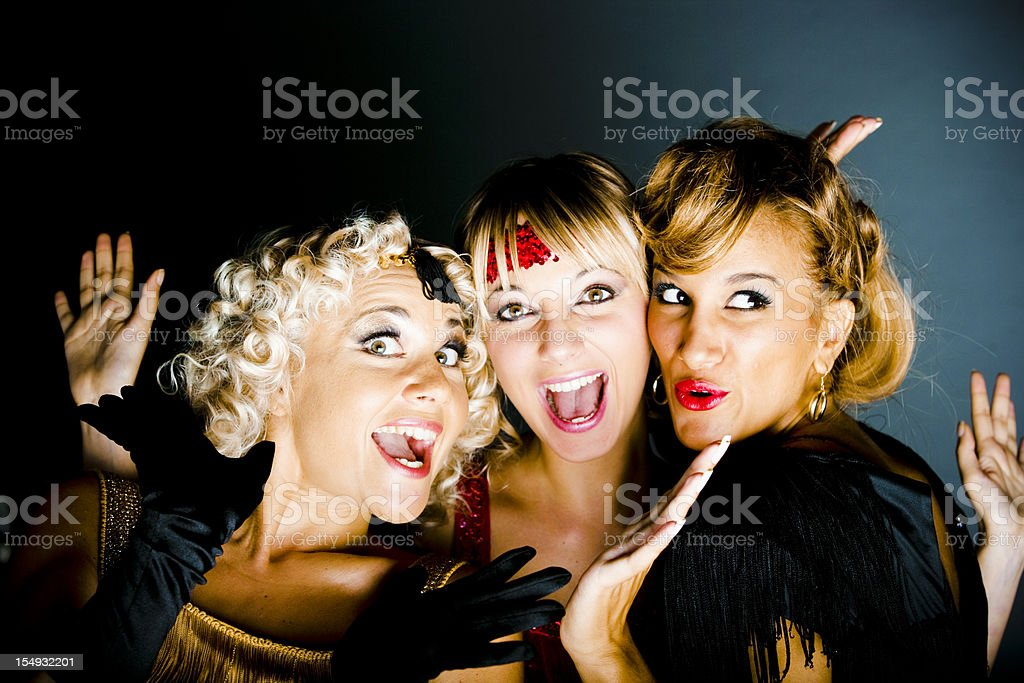 Cancan Dancing girls stock photo