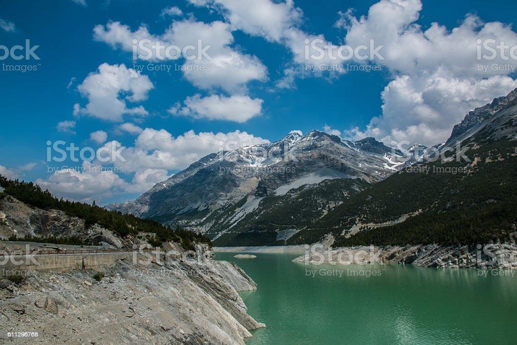 Cancano lakes in Italy stock photo