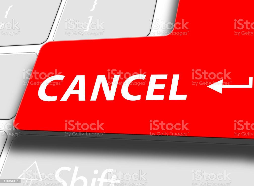 Cancel button on computer keyboard stock photo