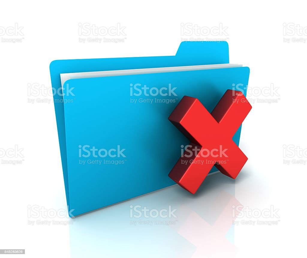 cancel folder or file stock photo