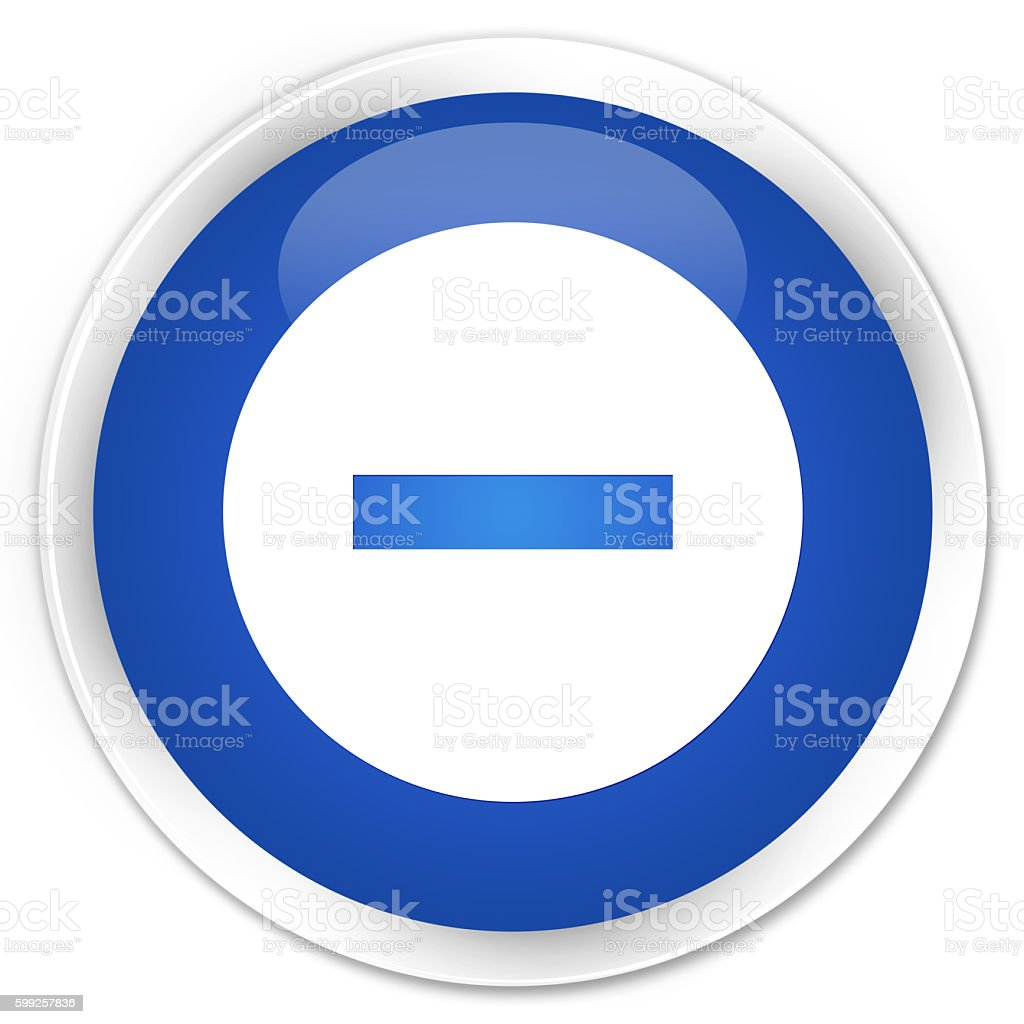 Cancel icon blue glossy round button stock photo