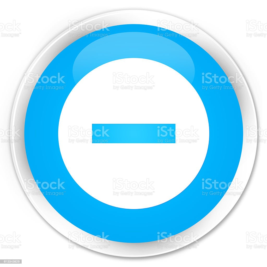 Cancel icon cyan blue glossy round button stock photo
