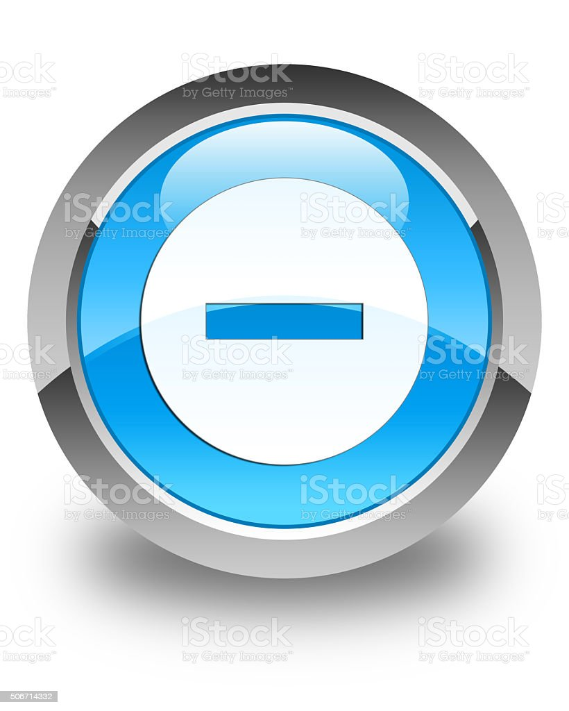 Cancel icon glossy cyan blue round button stock photo