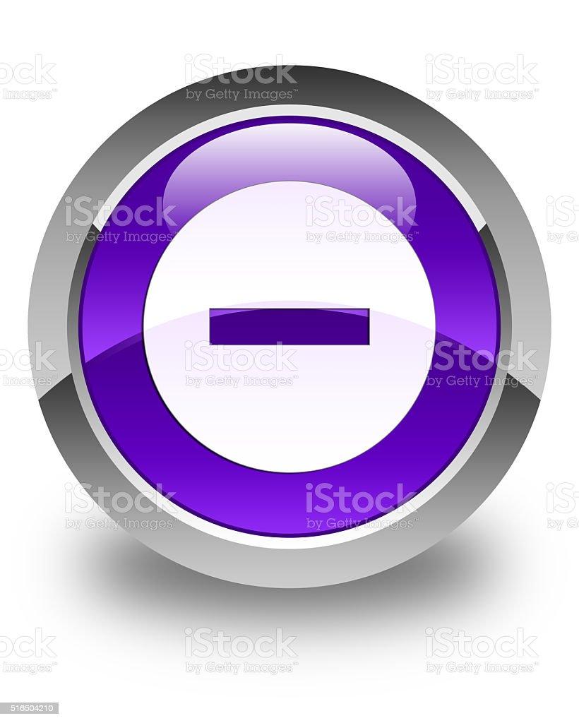 Cancel icon glossy purple round button stock photo
