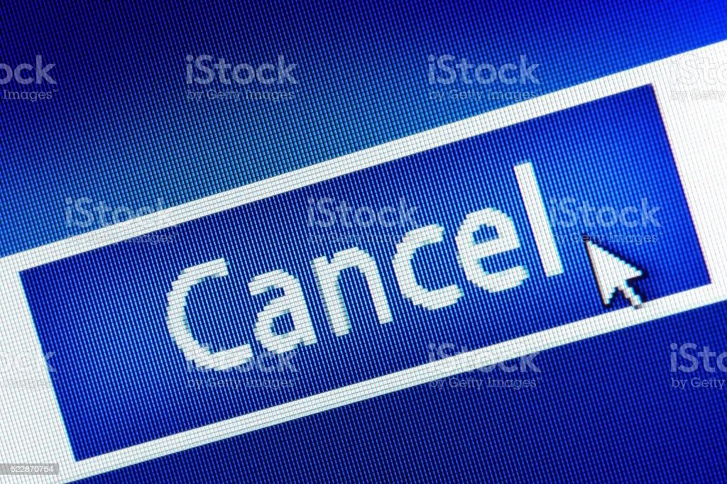 Cancel stock photo