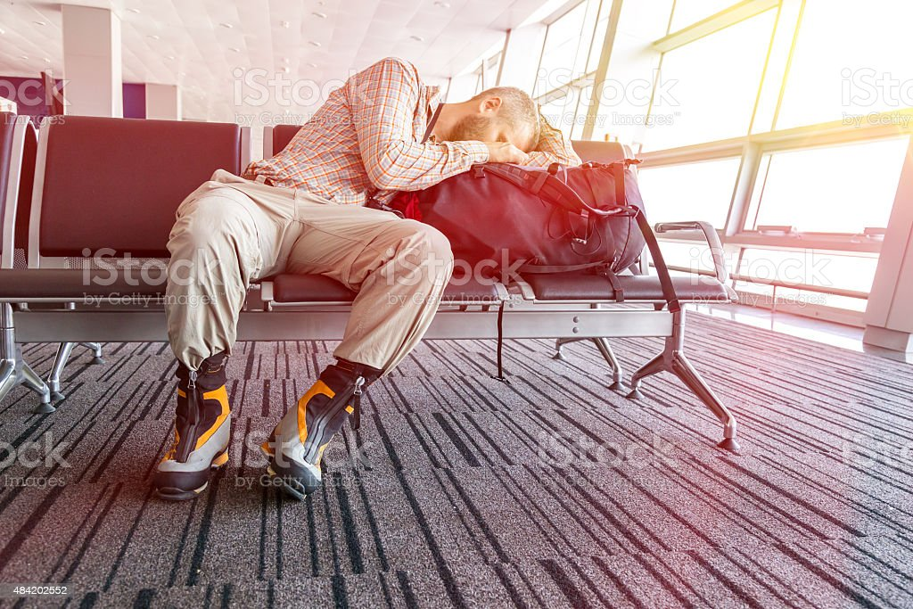 Canceled flight stock photo