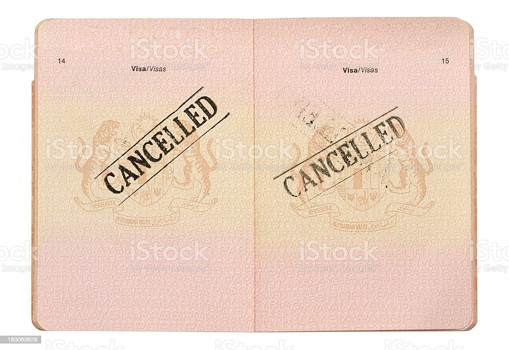 Cancelled Passport royalty-free stock photo