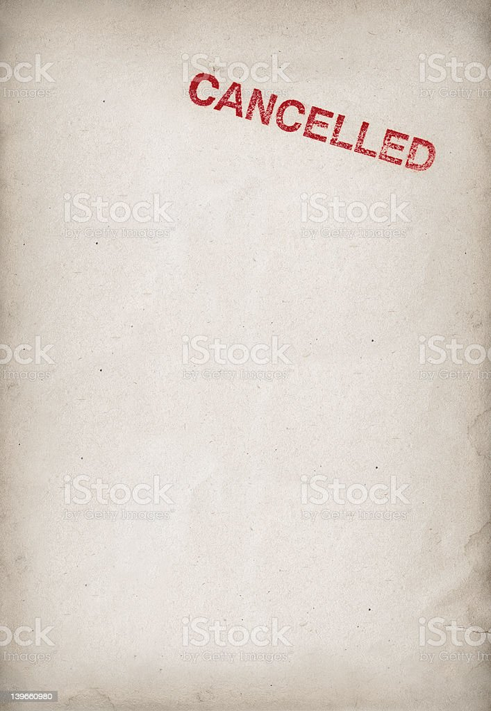 cancelled stock photo