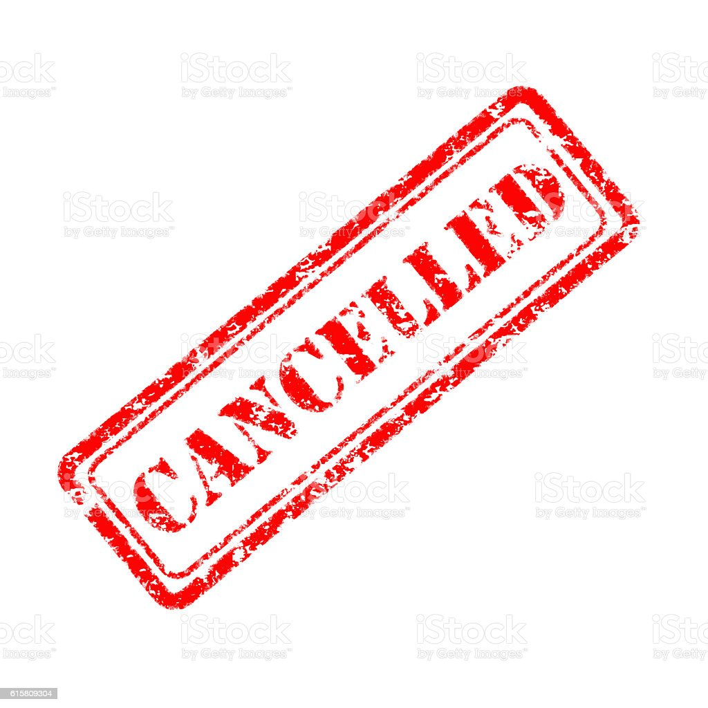 cancelled rubber stamp stock photo