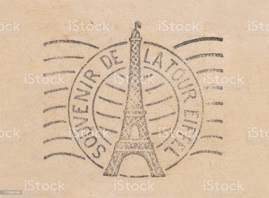 Cancelled souvenir de la tour eiffel stock photo