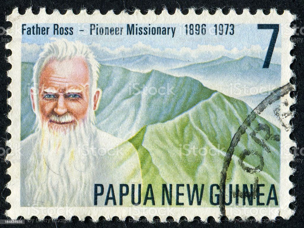 Cancelled Stamp Of Father Ross stock photo