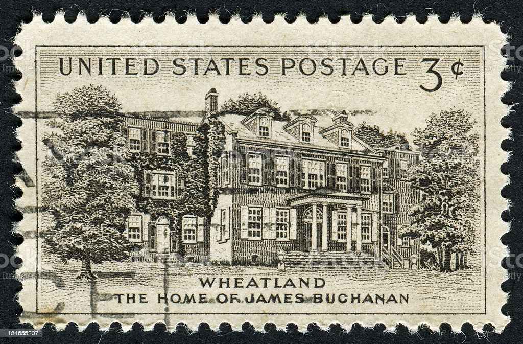 Cancelled Stamp Of Wheatland stock photo