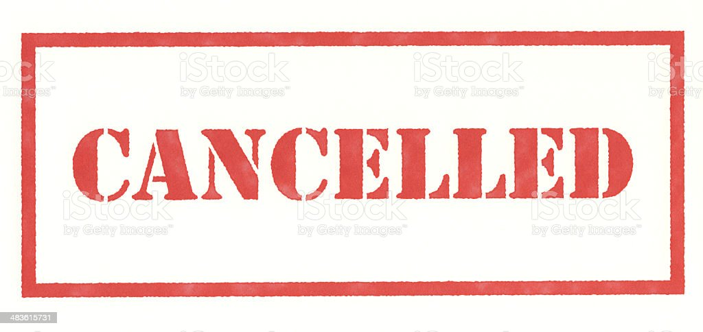Cancelled Stamp stock photo