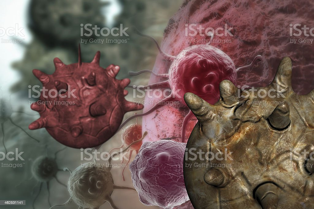 cancer cell royalty-free stock photo