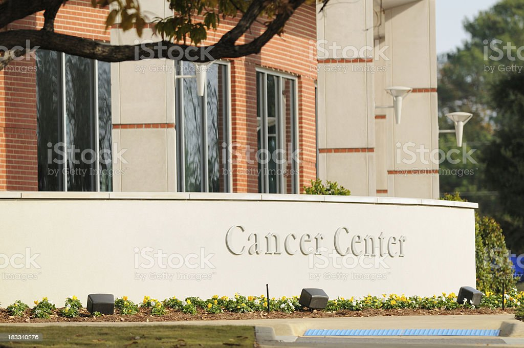 Cancer center entrance royalty-free stock photo