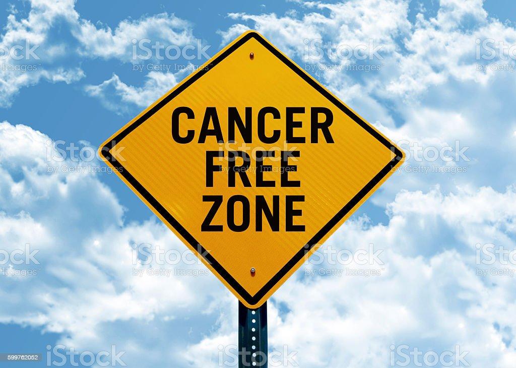 Cancer free zone stock photo