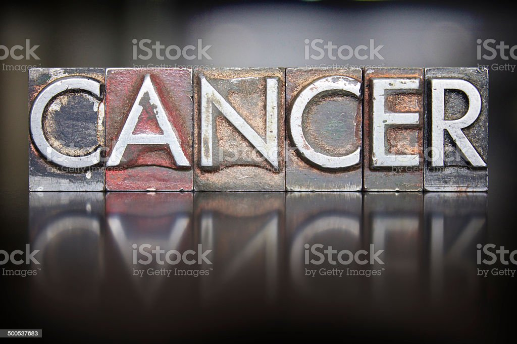 Cancer Letterpress stock photo