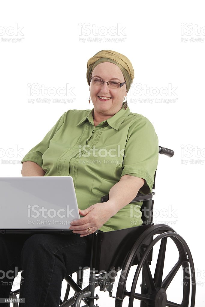 Cancer Patient in Wheelchair royalty-free stock photo