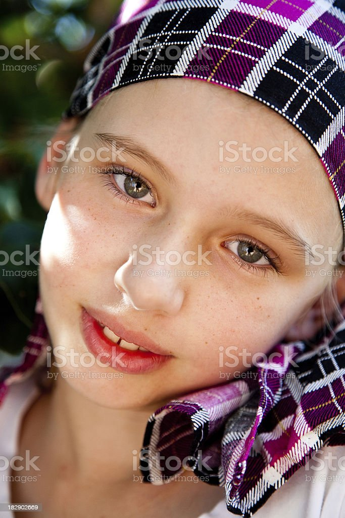 Cancer Survivor Beautiful Girl royalty-free stock photo