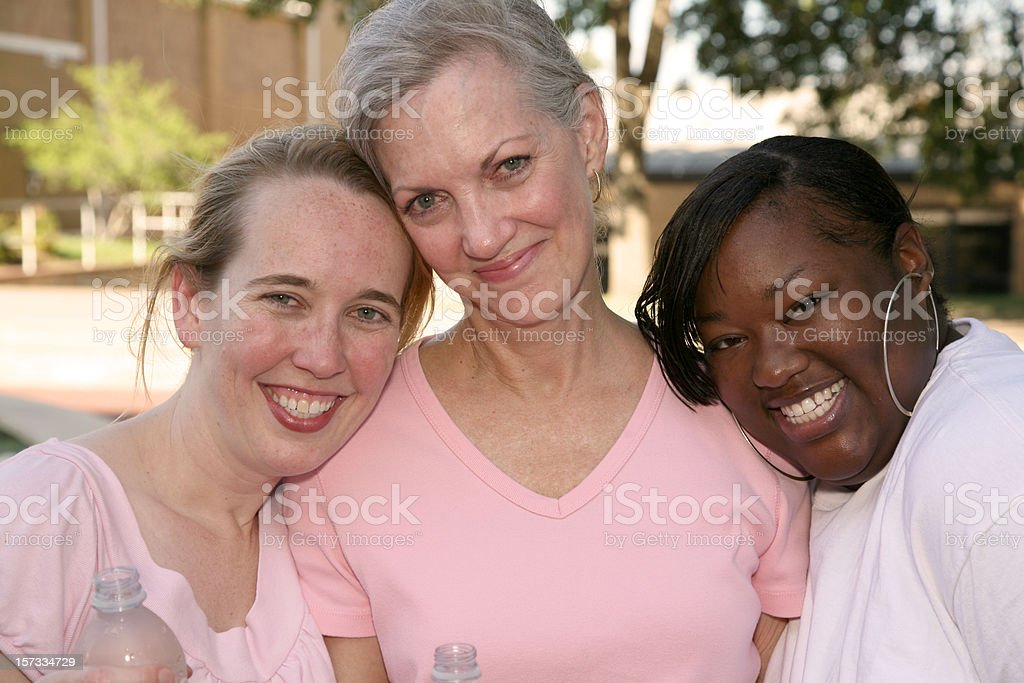 Cancer Survivors Embracing One Another royalty-free stock photo