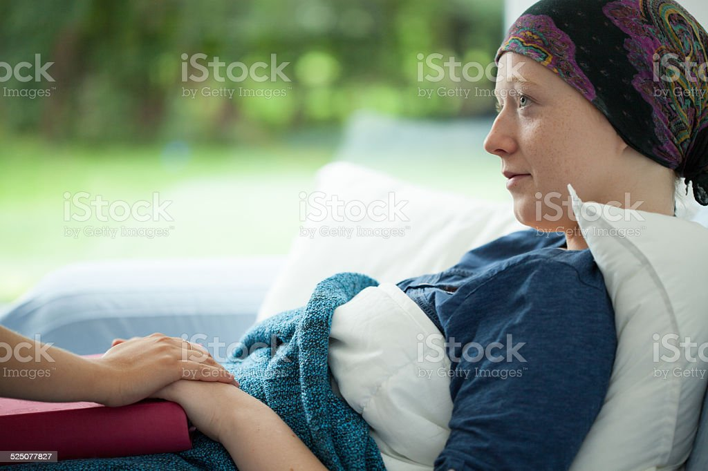 Cancer woman stock photo