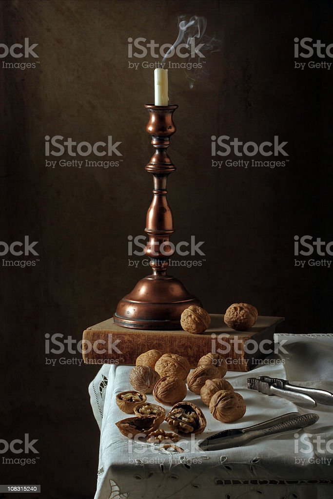 Candelabra and Nuts royalty-free stock photo