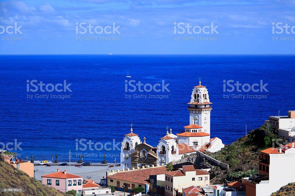 Candelaria church stock photo