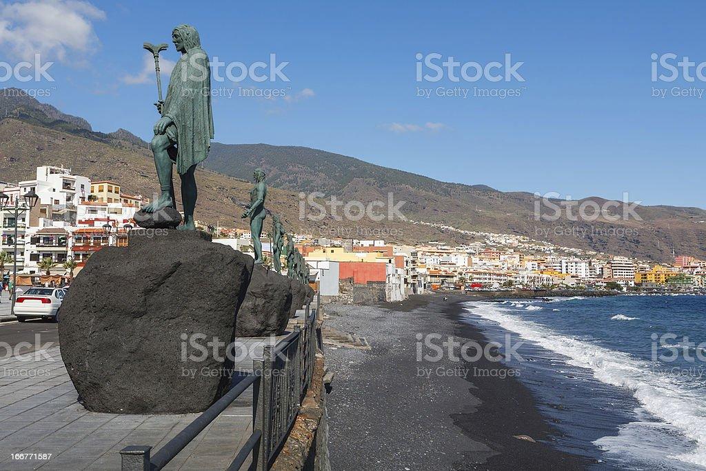 Candelaria town. Tenerife, Spain stock photo