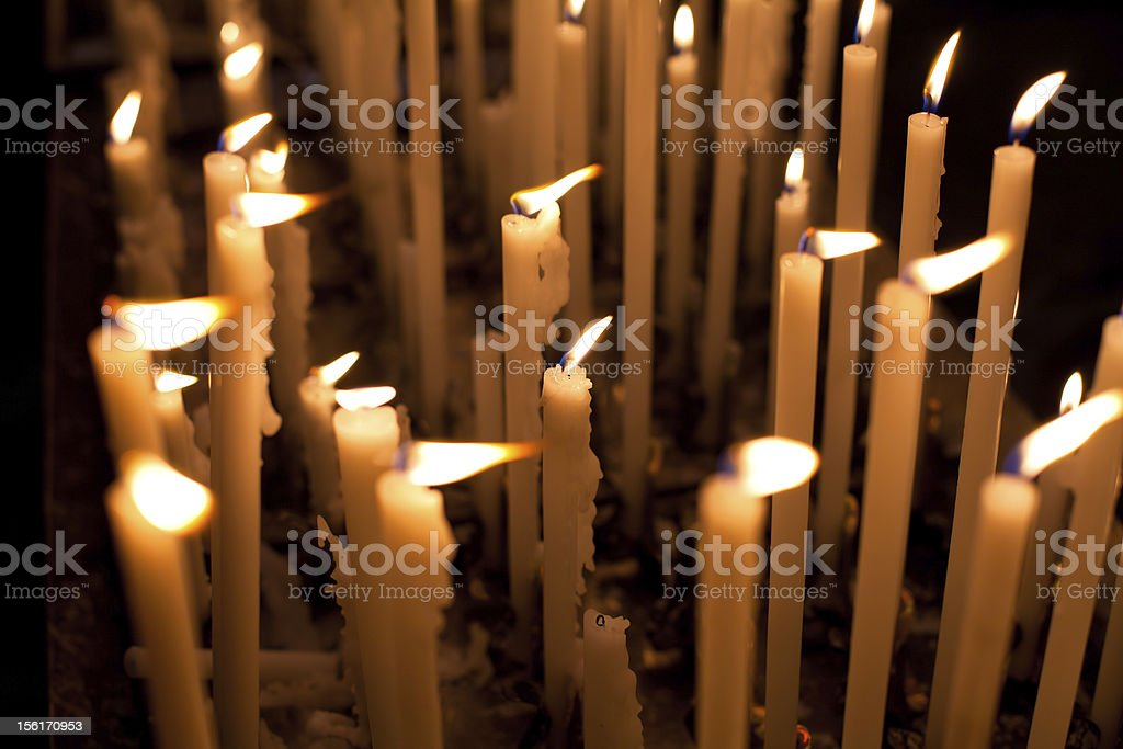 Candels inside Saint Peter Church, Rome royalty-free stock photo