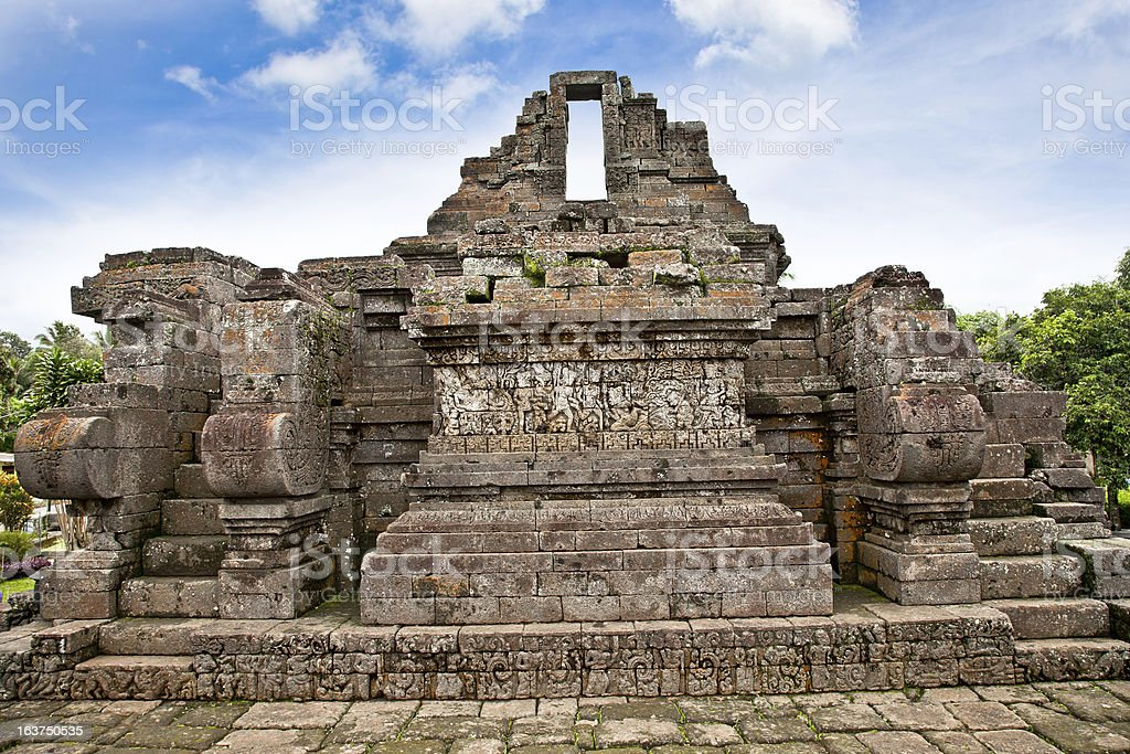Candi Jago Temple near by Malang, east Java, Indonesia. stock photo