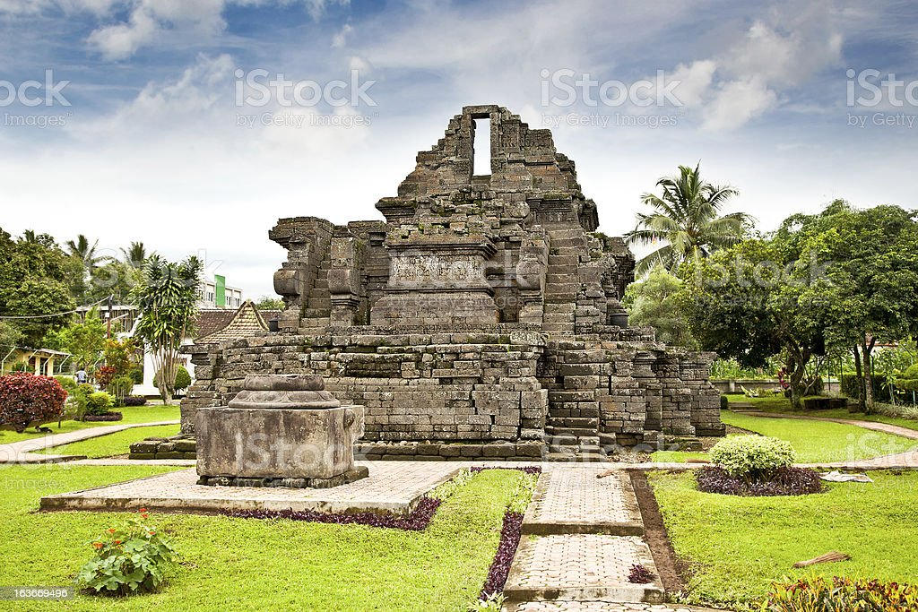 Candi Jago Temple  near by Malang ,Indonesia. stock photo