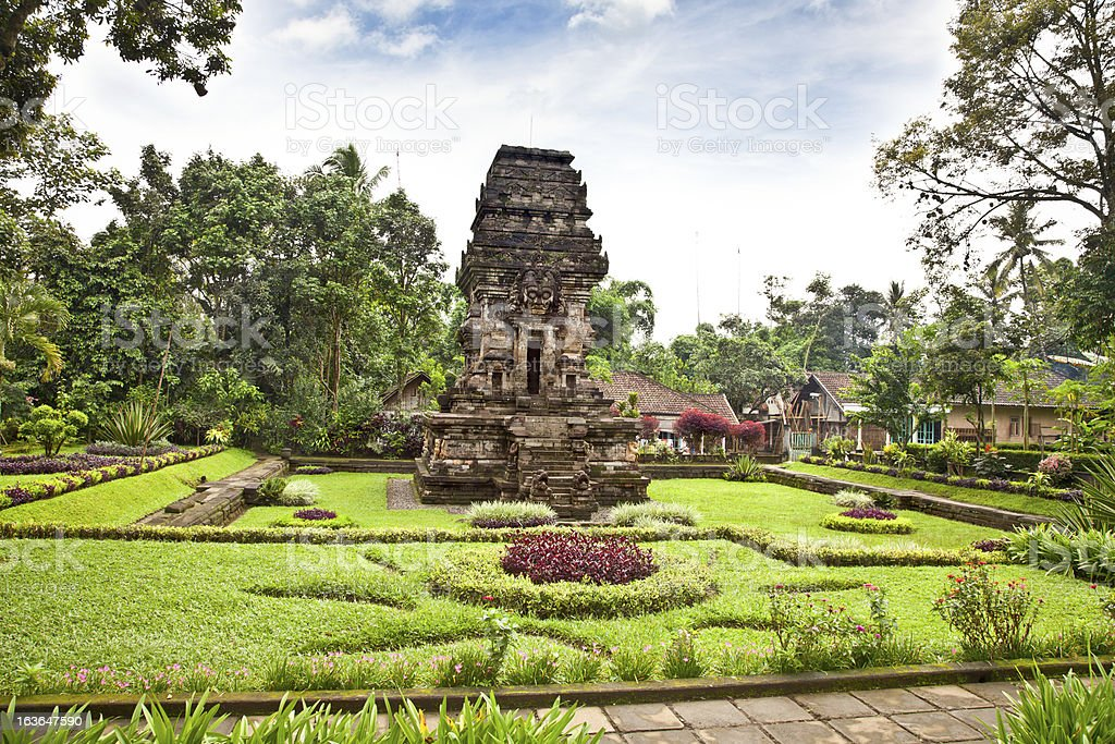 Candi Kidal Temple near by Malang, east Java, Indonesia. stock photo