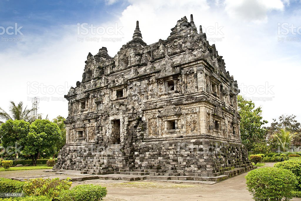 Candi Sari  buddhist temple  on Java. Indonesia. royalty-free stock photo