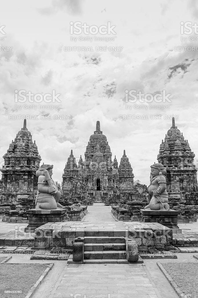 Candi Sewu Buddhist Temple Java Ancient Indonesian UNESCO Architecture stock photo