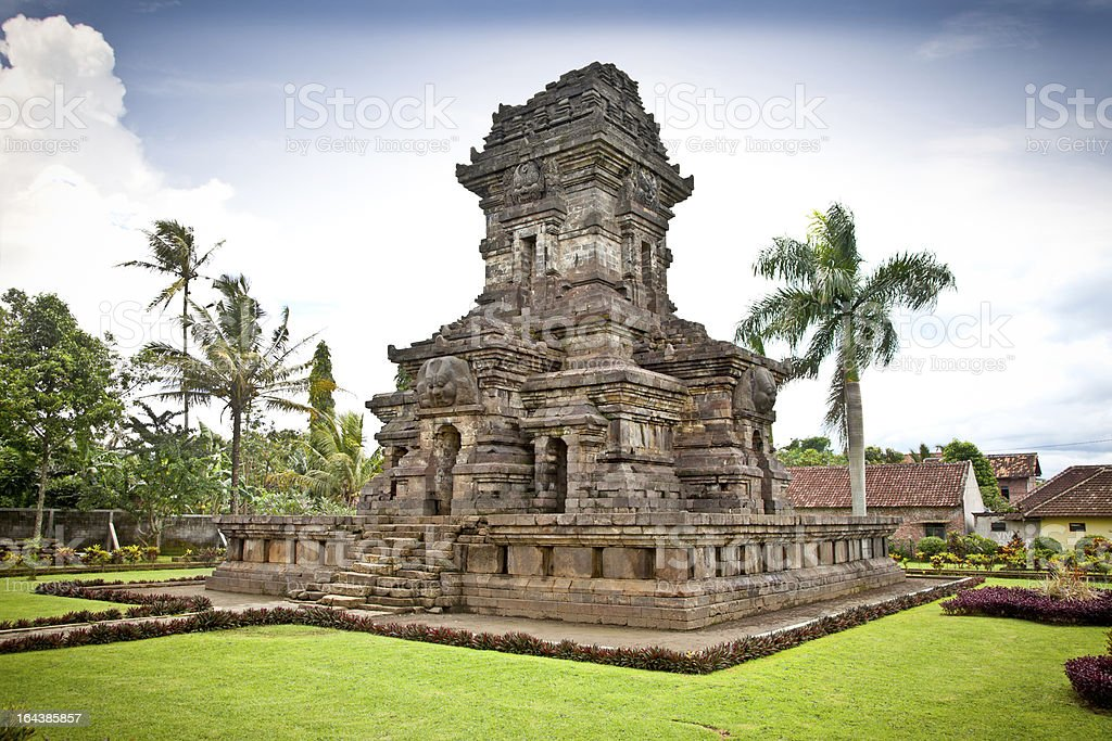 Candi Singosari Temple  near by Malang on  Java, Indonesia. stock photo