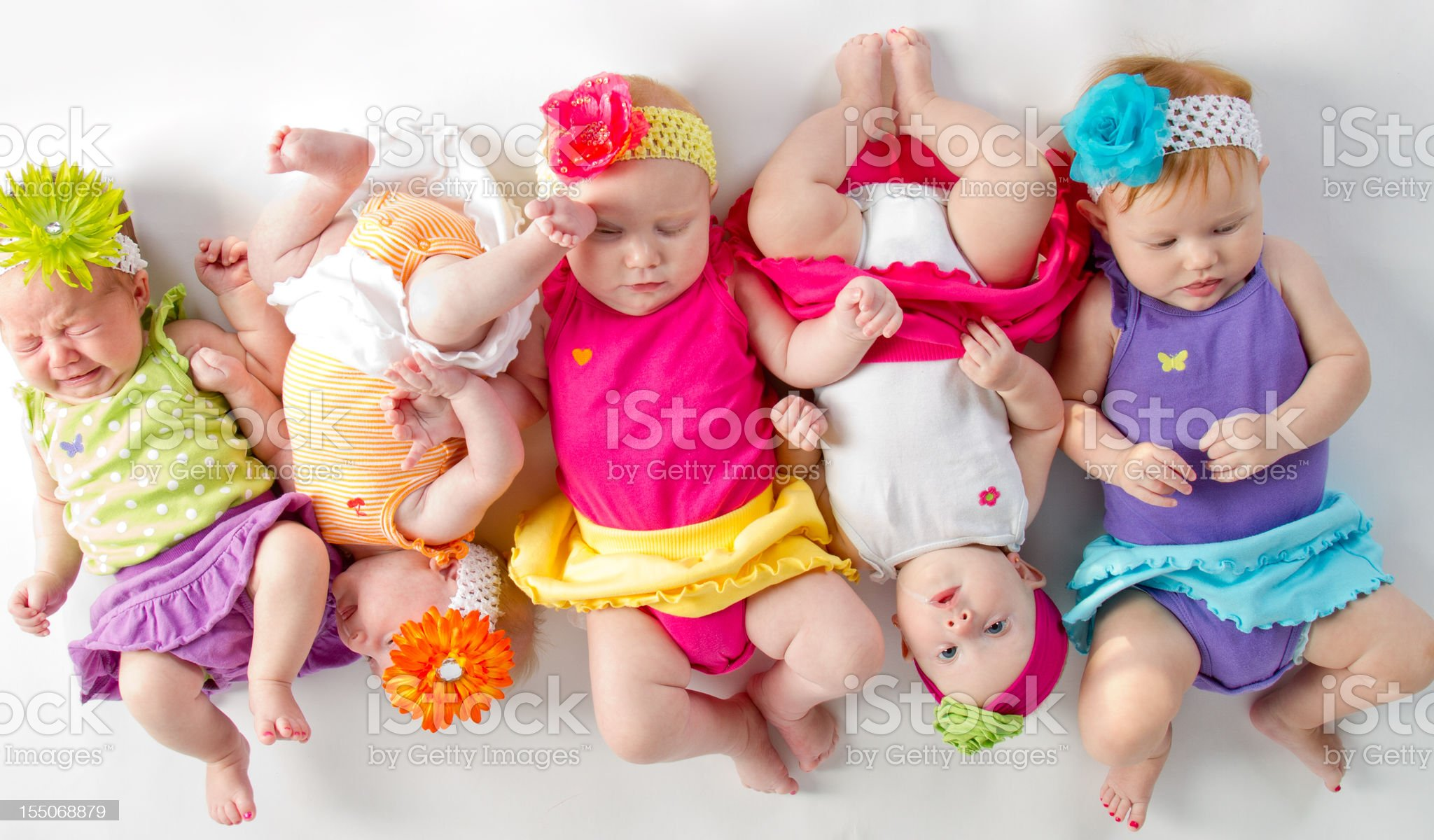Candid Babies royalty-free stock photo