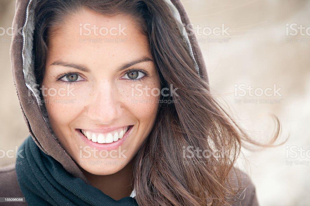 Candid Beach Portrait (XXXL) royalty-free stock photo