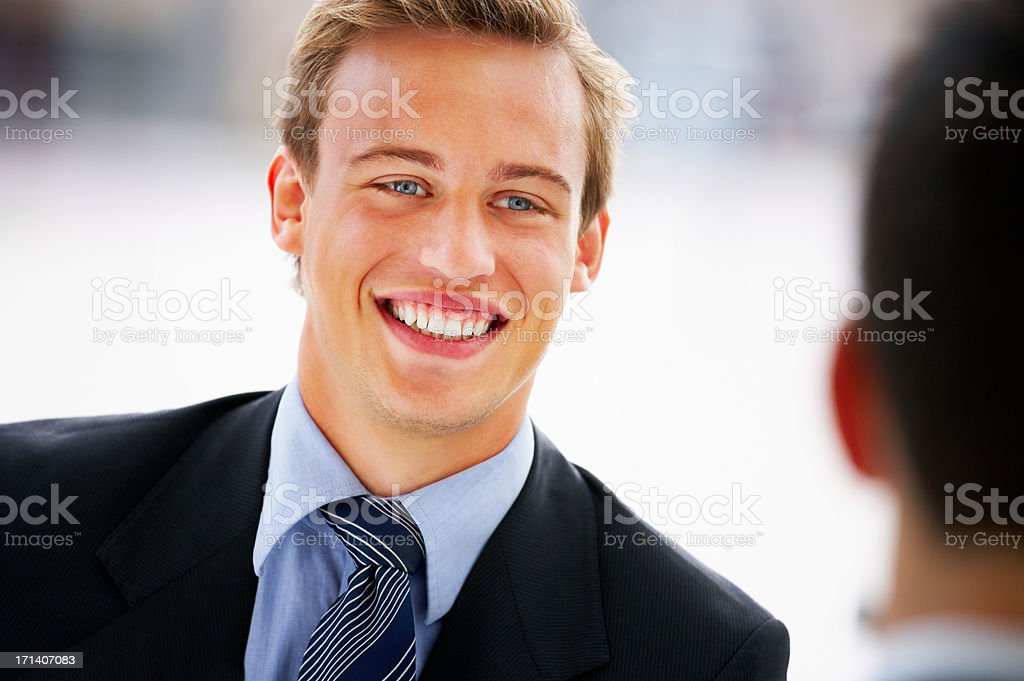 Candid business portrait royalty-free stock photo