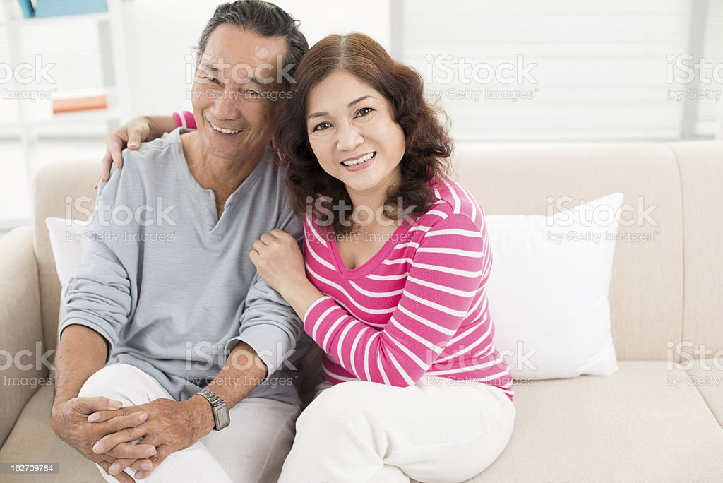 Candid couple royalty-free stock photo